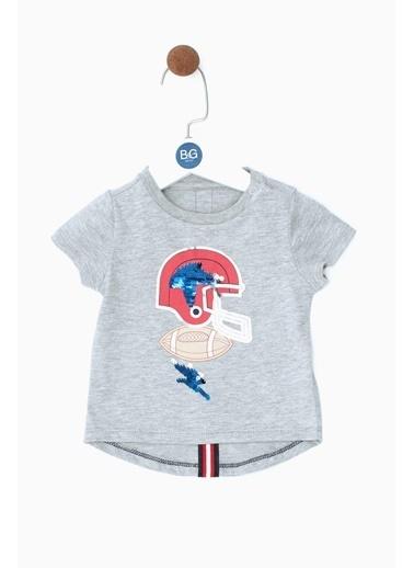 BG Baby Erkek Bebek Gri Melanj T-Shirt 19SS0BG1504 Gri